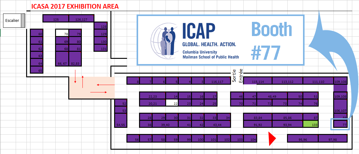 ICASA booth map