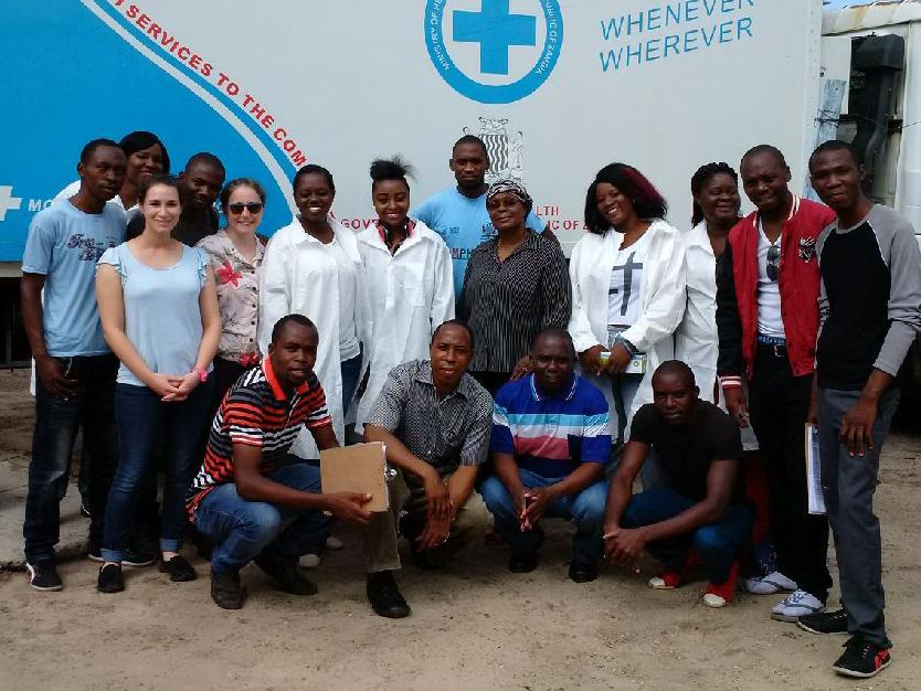 Mobile health van in Zambia
