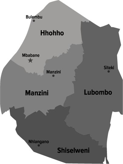 Swaziland Map